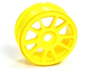 Part#: 44202 - 1/8 Buggy Wheels - Yellow Spoke (Pair)