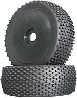 Part#: 45216 - 1/8 Buggy Pre-Mounted Tires - Black Dish W/ Studs (Pair)